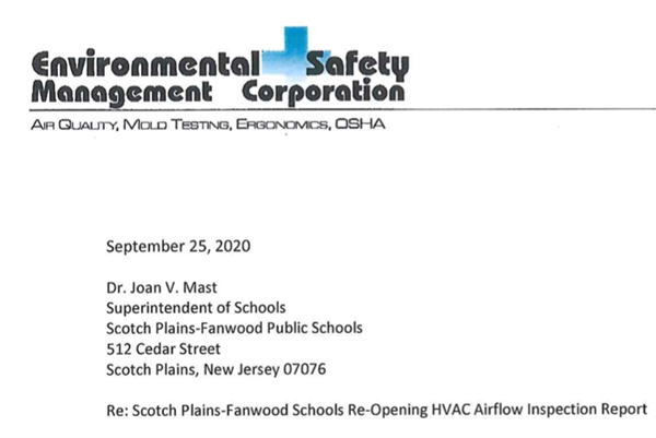 Environmental Safety Management Corporation Letterhead