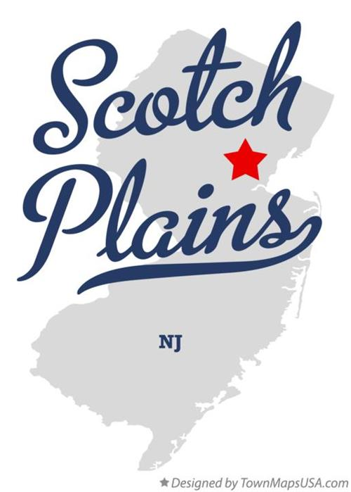 Scotch Plains Map Graphic